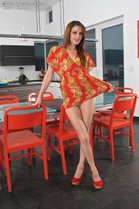 Kiera Winters,short skirts shaved